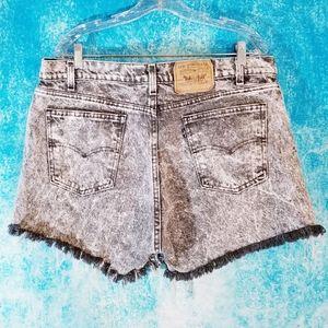 VTG 80s Levi's Acid Wash Black Tab Denim Shorts